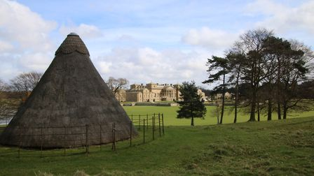 The Ice House at Holkham with the hall in the background Photo: Martin Sizeland