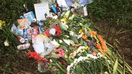 A memorial left by friends and family of Jordie Rae. Picture Ian Clarke