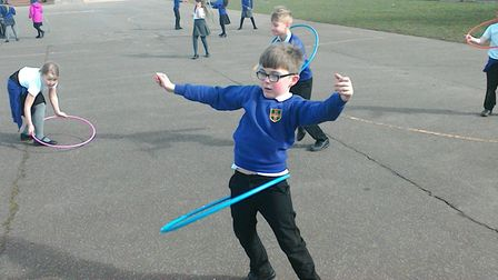 Step it up for Sport Relief' at Dereham Junior Academy. Pictures: Christina Bodiam