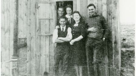 The Cookhouse at the sawmill in Poland. Arthur Brough is in the front row, on left. Picture: Submitt