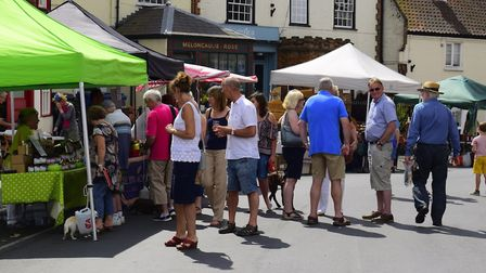 Last year's busy Reepham food festival. Pictures: supplied by Richard Cooke