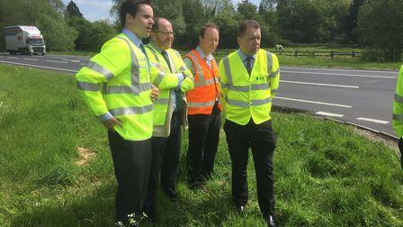 George Freeman met with councillors and Highways England to discuss Draytonhall Lane junction. Pictu