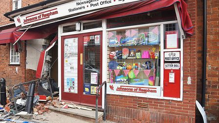 A cash machine was stolen in a ram raid at the covenience store in Reepham. Picture: Ian Burt