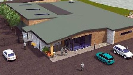 The design for the proposed new visitor centre at Billingford Lakes. Picture: BD&M (UK) Ltd