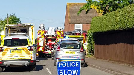 Emergency services were called to Daffodil Way, Mattishall, to reports of a man who had set himself