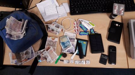 Class A drugs and money has been seized following the arrest of a suspected dealer in Dereham. Photo