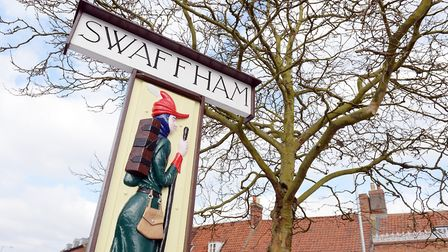 Swaffham sign has been restored and put back in the Market Place. Picture: Matthew Usher.