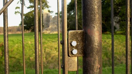 Kissing gate at Wheetling Castle. 2 of 2