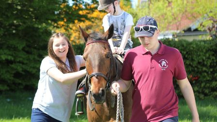 Wensum Valley Nursery School Spring Fayre 2018. Manor Farm Riding Stables brought two ponies to the