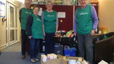 Project Manager Dave Pearson with team of volunteers. Picture: Mid-Norfolk foodbank