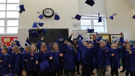 Graduation in Scarning. Picture: Scarning V C Primary School