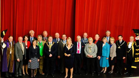 Breckalnd Council Chairman's afternoon tea at the Dereham Memorial Hall. Chain Gang at Cllr Kate Mil