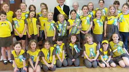 The 1st Toftwood Brownies have been celebrating 100 years of women having the vote by completing a s