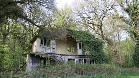 This property on the Sennowe Estate near the footpath is now home to the local wildlife. Photo: Mart