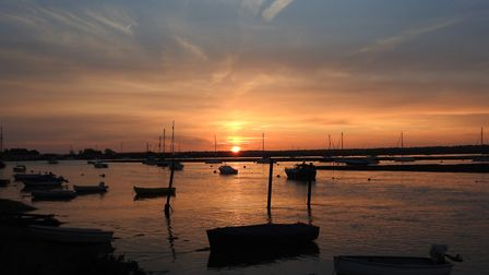 Sunset and high tide at Wells next the sea. Photo: Paul Reynolds