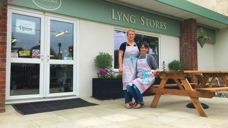 (R-L): Owners Jenna Youngs and Georgie Rant at the Lyng Stores. Photo: Maddi Perry