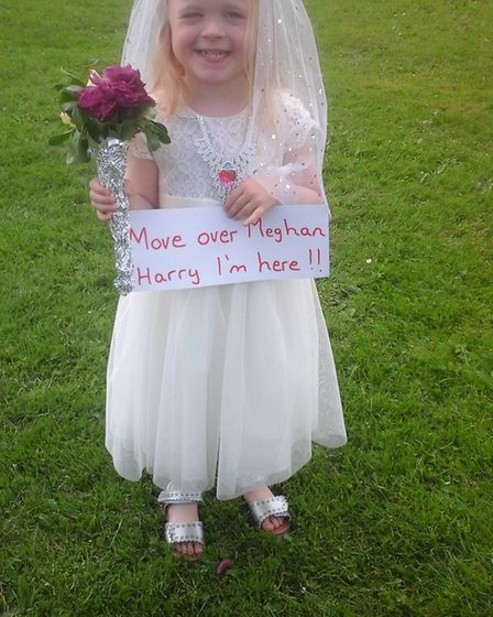 The winner of a fancy dress competiton at the Dereham Windmill re-opening fun day. Picture: SUPPLIED