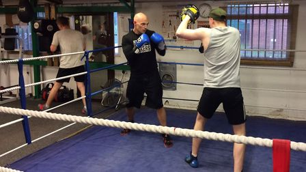 Dereham Boxing Club. Max Samuel sparring in the ring with his opponent. Picture: DONNA-LOUISE BISHOP