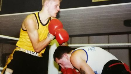 Dereham Boxing Club. Pictured is one of Dereham Boxing Club's greatest boxers, Stevie Garner (left)