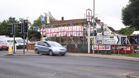 The Railway Tavern in Dereham has been rebranded The English Tavern just for the World Cup. Picture: