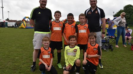 Some of the teams taking part in Sunday's leg of The Aldiss Park Cup.Sprowston HawksByline: Sonya Du