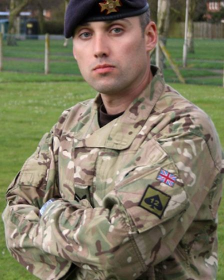 Sergeant Lee Paul Davidson from Doncaster, South Yorkshire of The Light Dragoons.