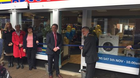 Flashback to November 2016. Dereham mayor Phillip Duigan opens the new Adcocks electrical store in D