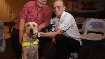 Keith Gilding, left, with his guide dog Briony. Picture: DENISE BRADLEY