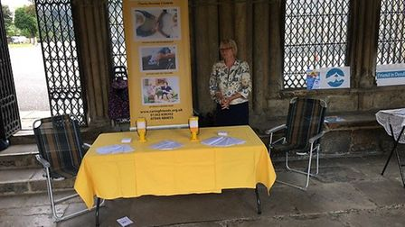 The mid-Norfolk based Caring Friends group were part of a Celebrating Volunteers Exhibition at Norwi