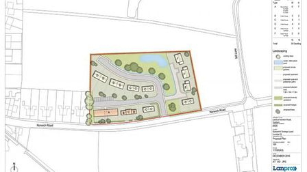 Lanpro hopes to build the homes off Norwich Road between Yaxham and CLint Green. Image: FROM LANDPRO
