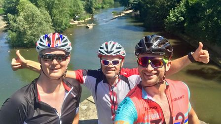 A group of friends from mid-Norfolk have completed a gruelling cycling challenge in memory of Simon