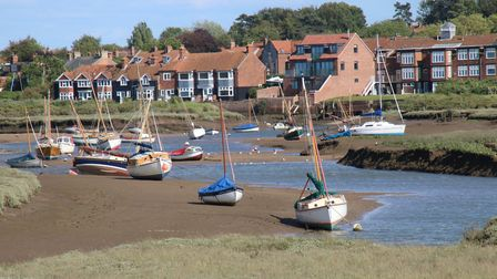 Burnham Overy Quay as seen from Norton Marshes. Photo: Martin Sizeland