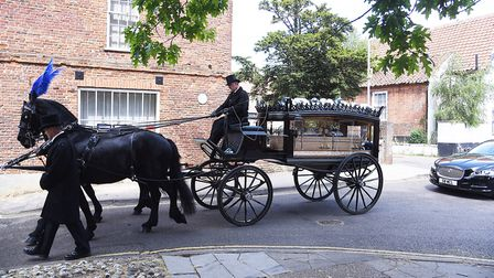 The funeral service for former County Council Leader Cliff Jordan was held at St Nicholas Church in