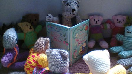 A knitted scene from the Once Upon a Time Festival in Shipdham. Picture: SENT IN BY SUE HART