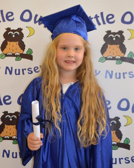 Little Owls from Toftwood and Scarning enjoy their graduation ceremony. Harriet Nobel. Picture: LITT