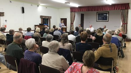 Yaxham Parish Council welcomed residents to a public hustings in the village hall. Photo: Yaxham Par