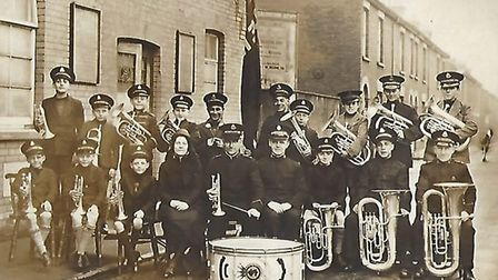 Dereham Salvation Army celebrates 135th anniversary. Young persons band circa 1940s. Picture: SUPPLI