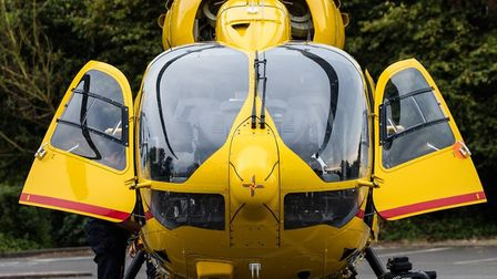 A crew from the East Anglian Air Ambulance landed in Dereham before being stood down from the emerge