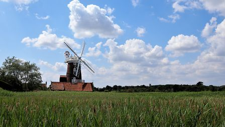 Sunny day, blue skies and an iconic landmark The Mill, Cley Next the Sea. Photo: Andrew Taylor