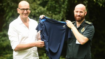 Paramedic Dale Gedge saved Tim Warner's life after he suffered a cardiac arrest during the Norwich 1