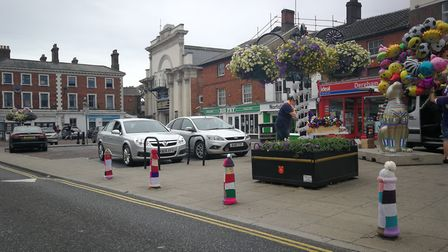 Dereham has been yarnbombed for the 2018 carnival. Photo Donna-Louise Bishop.