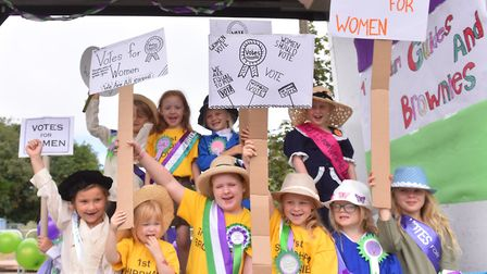 Shipdham Guides and Brownies win First Prize at the Dereham Carnival Parade 2018.Picture: Nick Butch