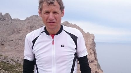 Nigel Arnold (pictured), 60, and brother-in-law Steve Williams, 49, will be cycling more than 1,000