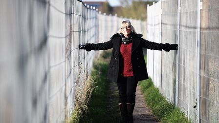 District councillor Alison Webb is unhappy about the fence Orbit Homes has erected on Cherry Lane, D