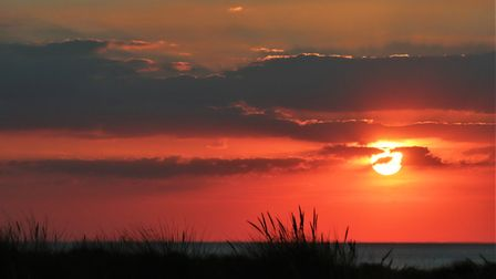 A vibrant sunset captured at Wells Next the Sea. Photo: Andrew Taylor