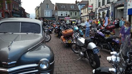 Harleys in Fakenham with a few celebrity guests. Picture: Paul Reynolds