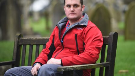 Royal British Legion member and ex-soldier Liam Young is attending GP90. Picture: Ian Burt