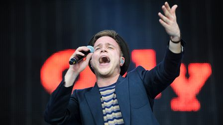 JLS gig at Carrow Road with support from Olly Murs, pictured in his trademark hat. Picture: James Ba