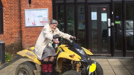 Grace Smith when she celebrated her 106th birthday. Picture: DEREHAM MEETING POINT.