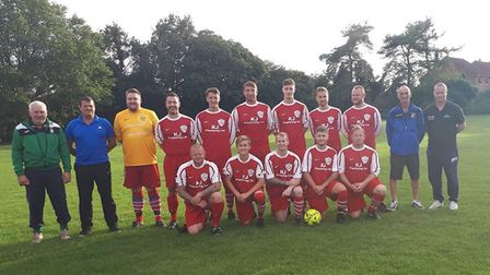 Charity football match to raise funds for poorly Dereham tot Jack Smith. Pictured is the Dereham Tav